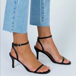 Therapy Black Friskee Squared Toe Heels